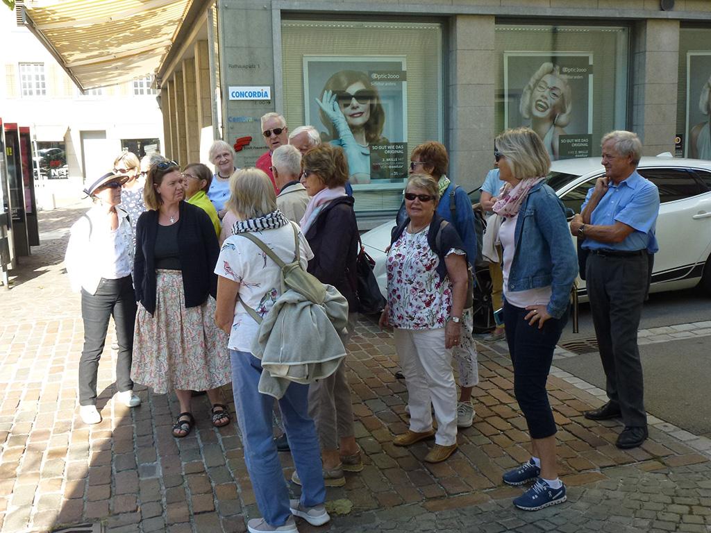 Kirchenchormitglieder am Ausflug nach Frauenfeld im 2018