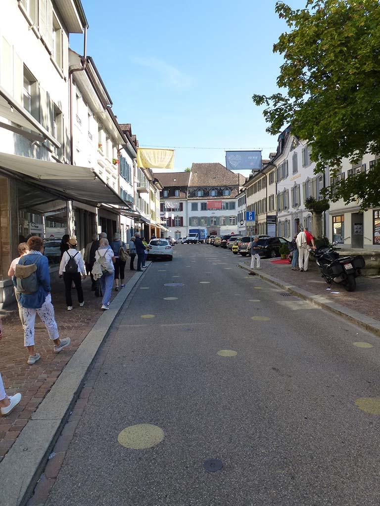 Seitenstrasse in der Stadt Frauenfeld